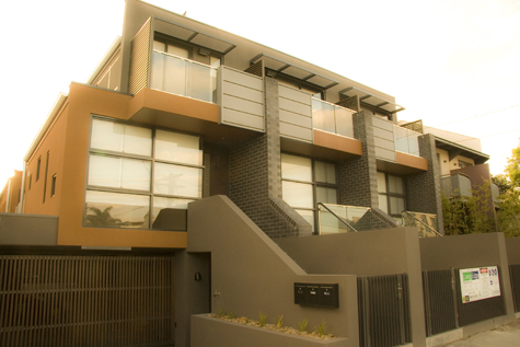 South Yarra Townhouses beautifully designed by Simon Greenwood Architects.