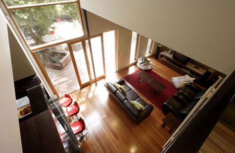 Looking Down on Living Room